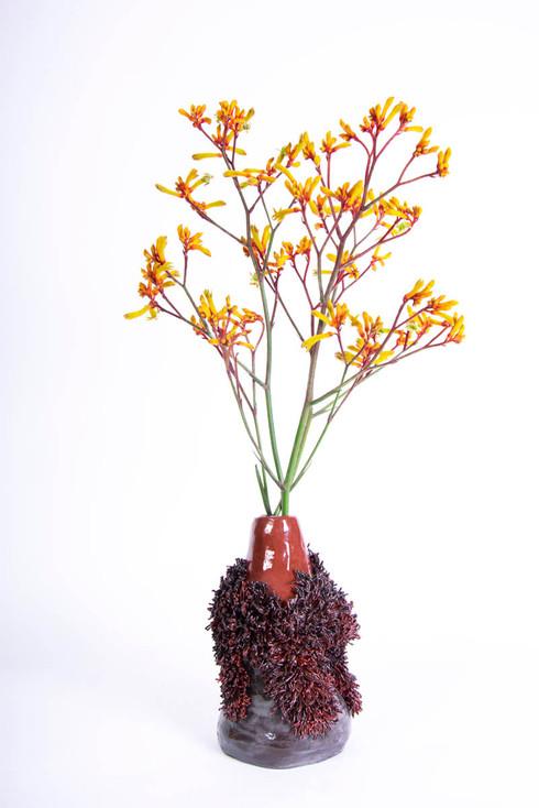 Red Black Vase 2