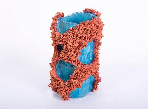 Blue Circles Vase