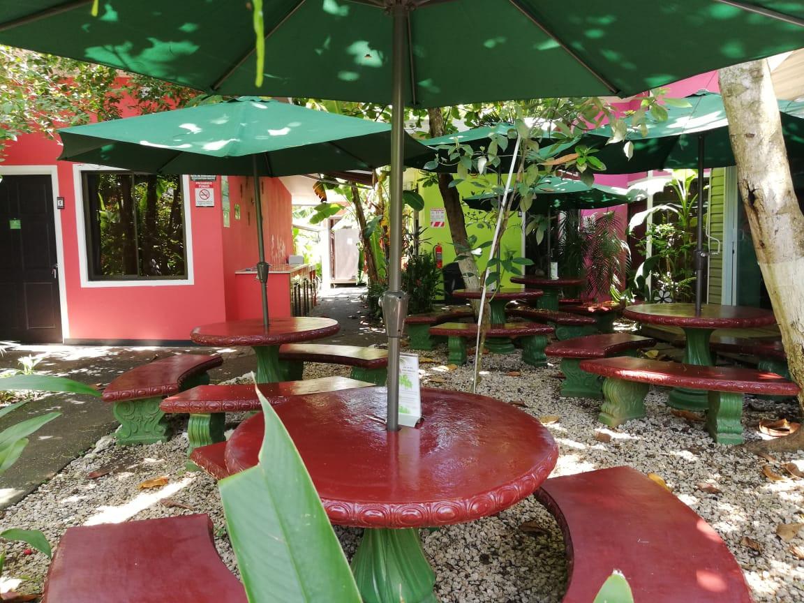 Mesas en el Jardin