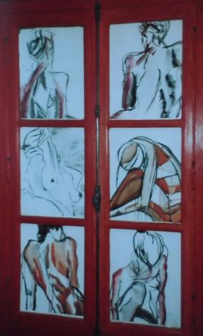 Nus a la fenêtre