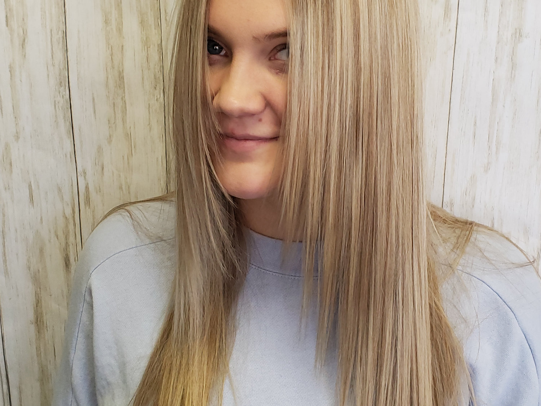 Full hilite haircut & style