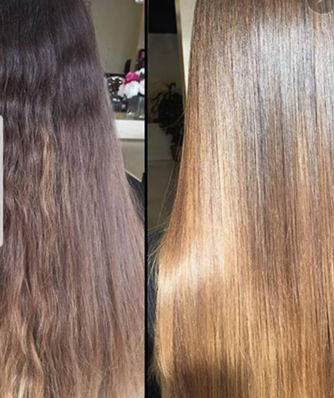 Keratin treatment haircut