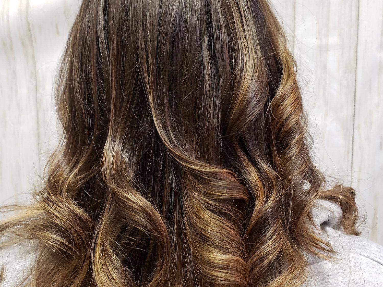 Balayage haircut and style