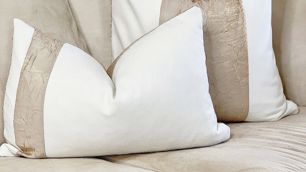 Pearl White-Metallic Gold Combo