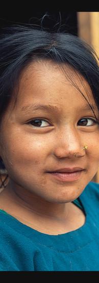 Dívka s copanky, Sinja Jumla , Nepal