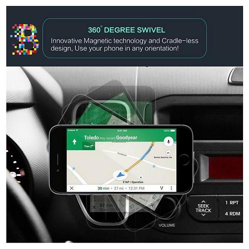 BeBay Magnetic Mobile Phone holder for your car