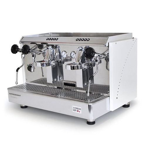 Espressomat Classica 2 Group Espresso Machine (White)