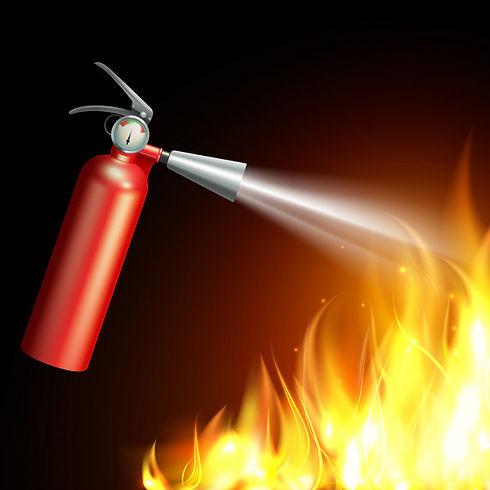 extintor-realista-llama-sobre-fondo-oscu