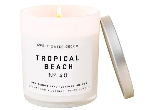 Tropical Beach Candle