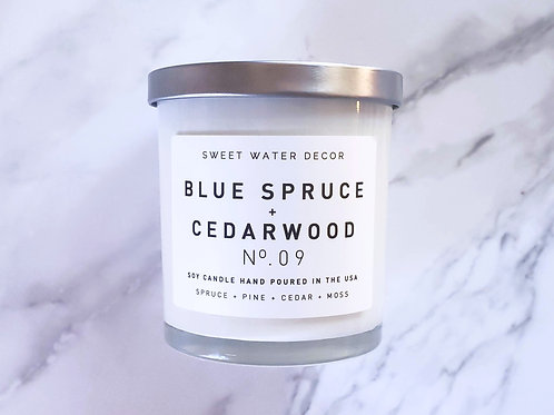 Blue Spruce + Cedarwood | Hand Poured Soy Candle