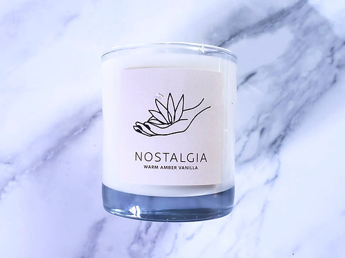 Warm Amber + Vanilla | NOSTALGIA - 50 hr Soy Candle -