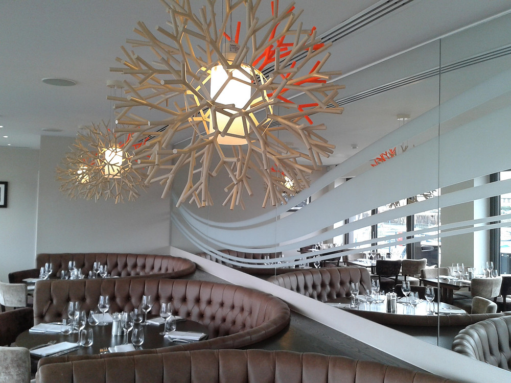 Pier 64 contemporary lighting in dining area