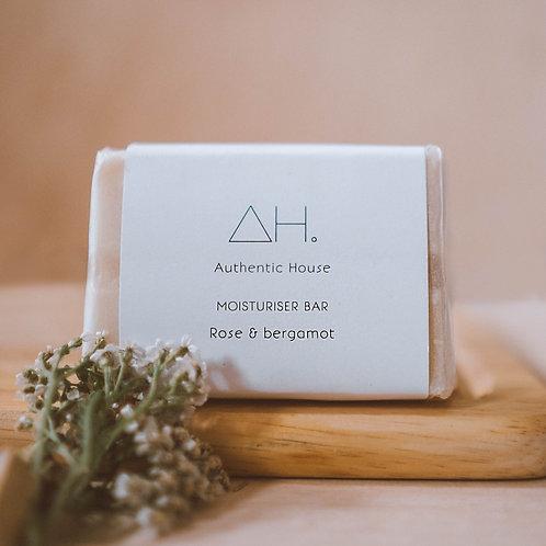 Rose & bergamot moisturiser bar - Authentic House