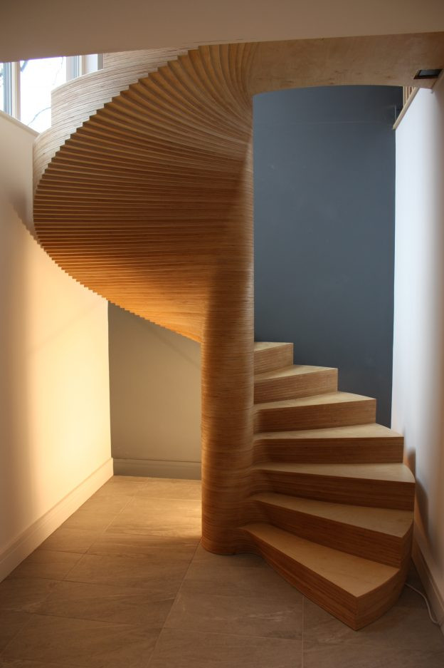 Spiral staircase at Ty Oriel