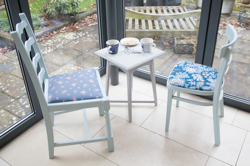 Ty Hafan upcycled chairs and table, with proceeds going to children at their hospice