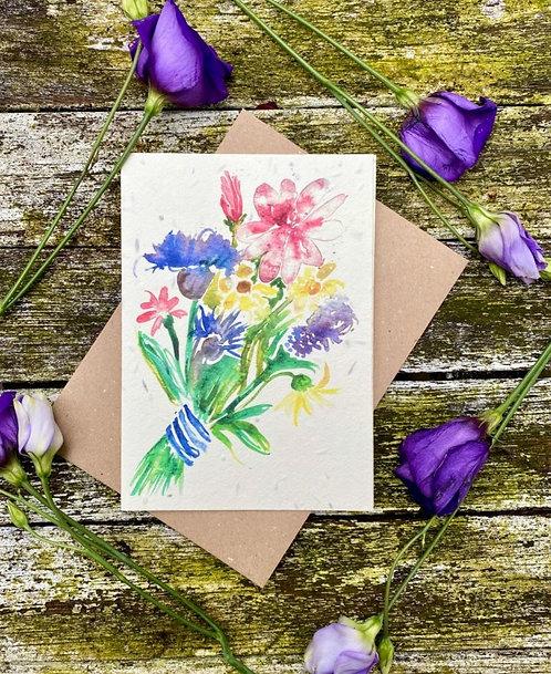 'Flower bouquet' plantable card - Loop Loop