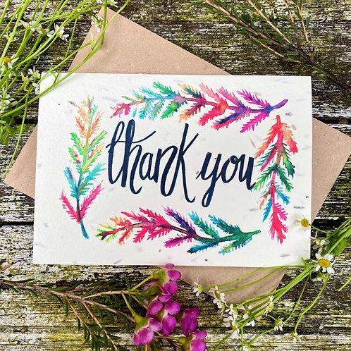'Thank you' plantable card - Loop Loop