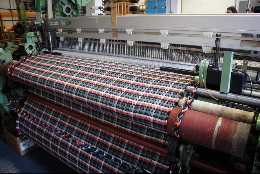 Fabric being woven at the mill in Bristol