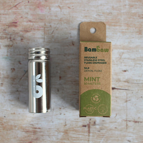 Dental floss from Bambaw (silk or corn starch)