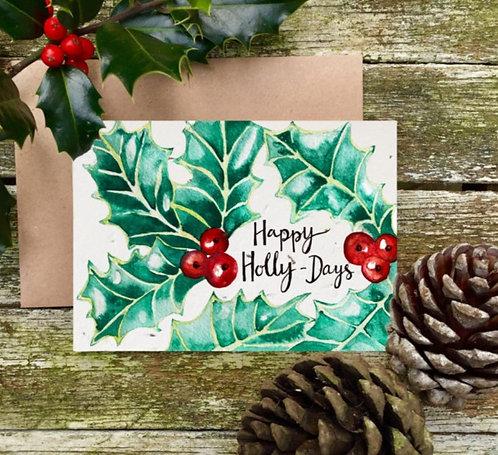 'Happy Holly-Days' plantable card - Loop Loop