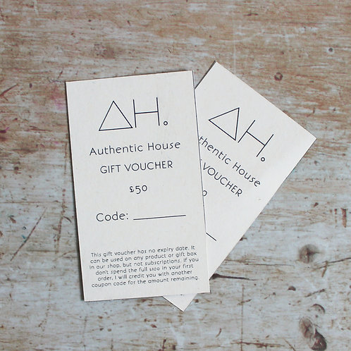 Authentic House gift vouchers