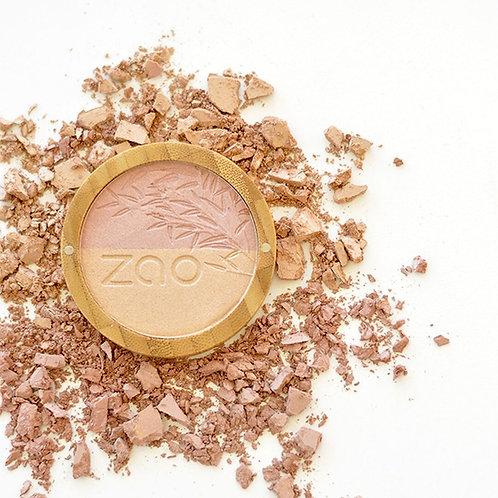 Pink & gold duo shine-up powder - Zao