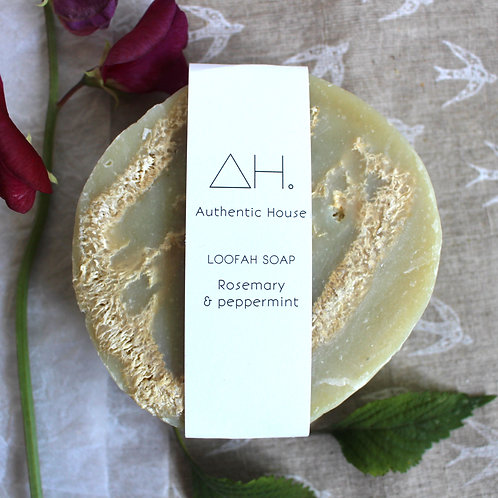 Rosemary & peppermint loofah soap - Authentic House