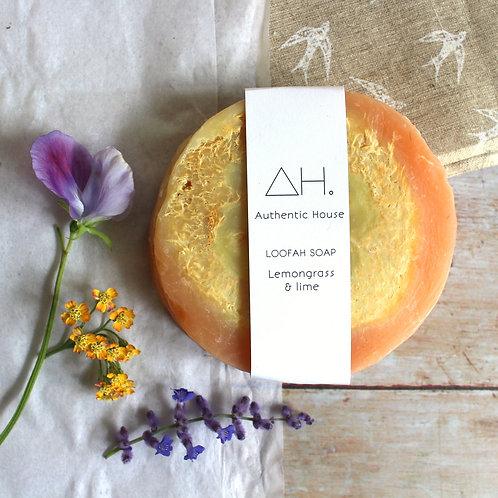 Lemongrass & lime loofah soap - Authentic House
