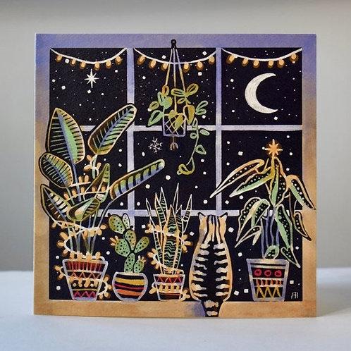Feline festive botanical Christmas cards - Freya's Prints