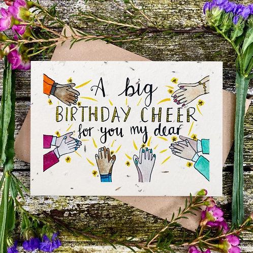 'Birthday cheer' plantable card - Loop Loop