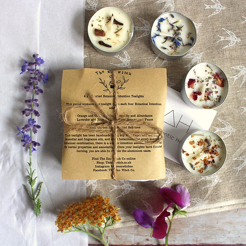 Botanical intention soy tealights - The Eco Witch Co