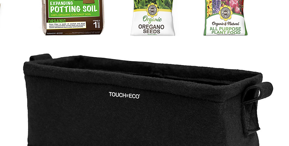ORGANIC OREGANO PLANTER BOX KIT WITH SOIL BLOCK