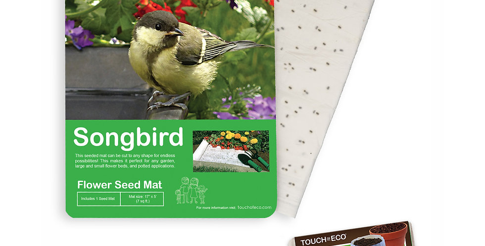 SONGBIRD FLOWER SEED MAT WITH SOIL BLOCK