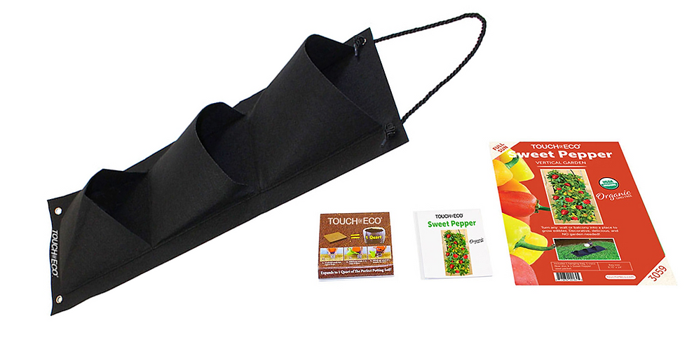 ORGANIC SWEET BELL PEPPER HANGING SEED BAG WITH SOIL BLOCK