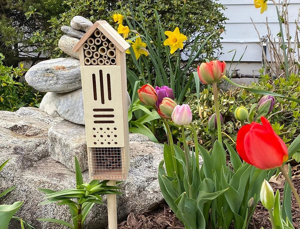Pollination Castle - Large Wooden Bug House For Bee's, Butterflies, & Ladybugs