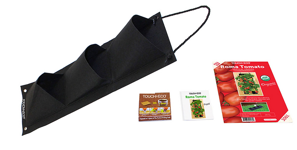 ORGANIC ROMA TOMATO HANGING SEED BAG WITH SOIL BLOCK