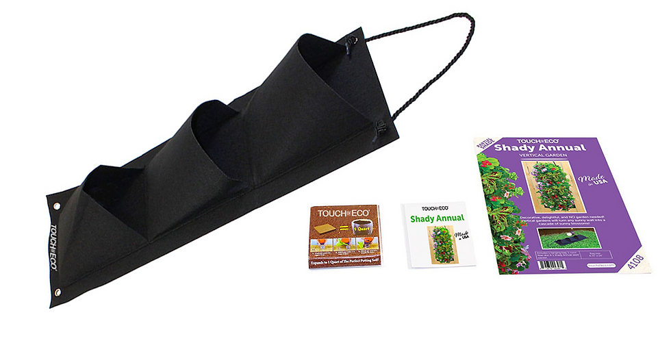 SHADY ANNUAL HANGING SEED BAG WITH SOIL BLOCK
