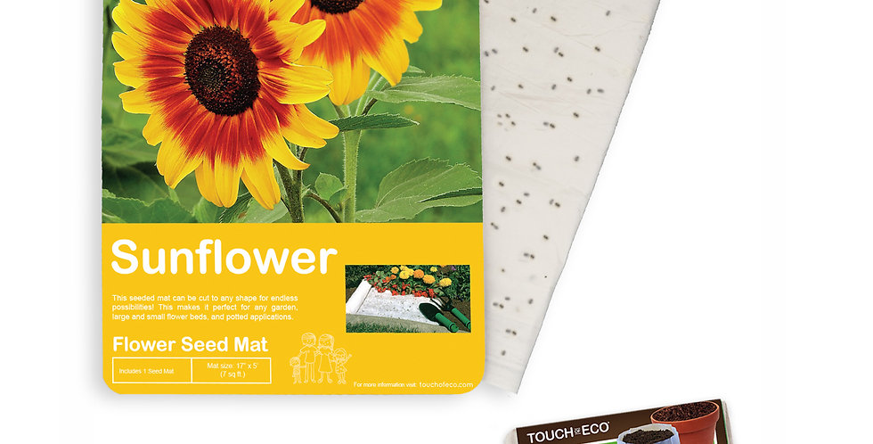 GIANT SUNFLOWER SEED MAT WITH SOIL BLOCK