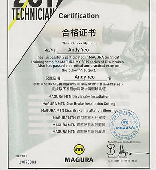 Magura Certified Technician Installer in