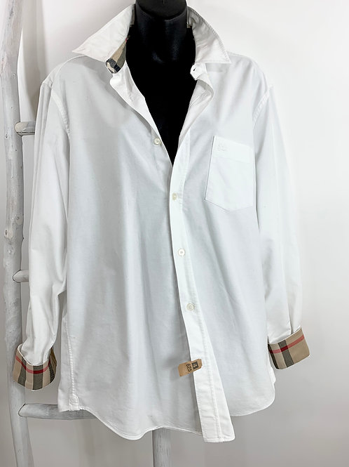 Burberry White Oversized Oxford Shirt