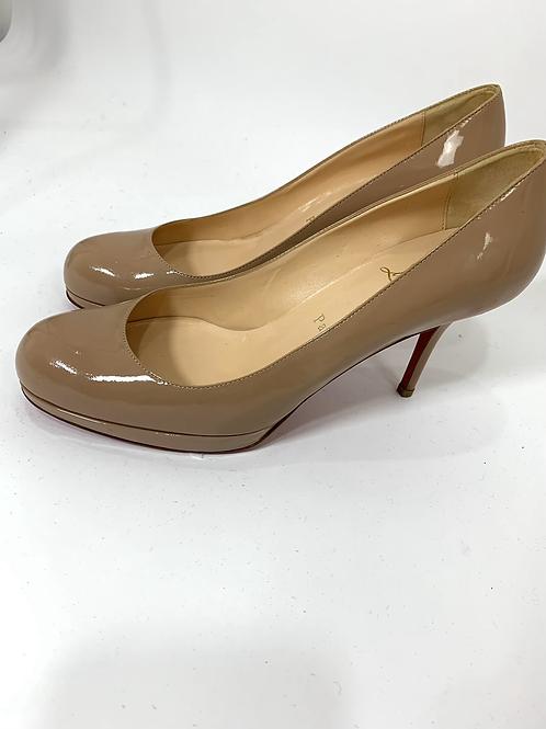 Christian Louboutin Nude Patent Leather Heel