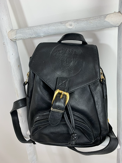 Vintage Gianni Versace Medusa Leather Backpack