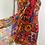 Thumbnail: Vintage Oscar de la Renta Silk Print Bustier Dress