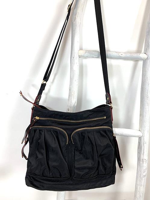 MZ Wallace Black Nylon Shoulder Bag