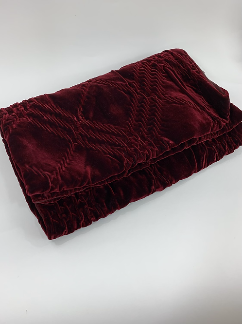 Burberry Quilted Velvet Shawl Scarf