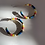 Thumbnail: Bright Colorful Bead Hoop Earring