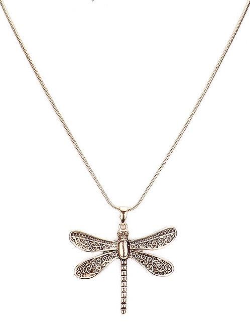 Nouveau Dragonfly Pendant Necklace