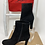 Thumbnail: Christian Louboutin Top 70 Black Veau Velours Black Suede Boot