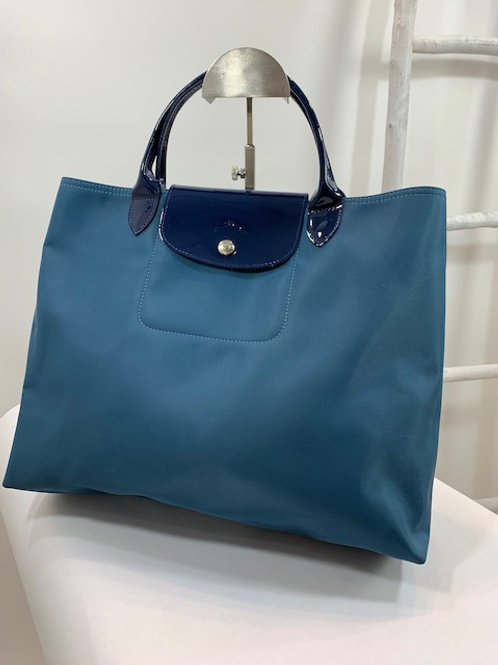 Longchamps Blue Nylon Tote Bag