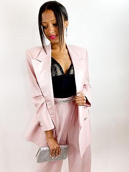 versace pink suit